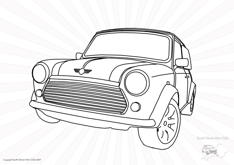 mini cooper panel coloring pages - photo#15